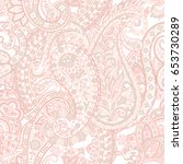 floral paisley pattern.... | Shutterstock .eps vector #653730289