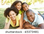Portrait Of Happy Family Piled...