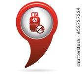 camping gas bottle icon. flat... | Shutterstock .eps vector #653737234