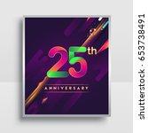 25th years anniversary logo ... | Shutterstock .eps vector #653738491