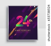 24th years anniversary logo ... | Shutterstock .eps vector #653738524