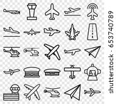 aircraft icons set. set of 25... | Shutterstock .eps vector #653740789