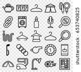 single icons set. set of 25... | Shutterstock .eps vector #653740825