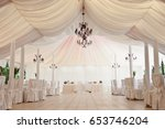 marquee for the celebration of... | Shutterstock . vector #653746204