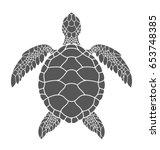 sea turtle. isolated turtle on...