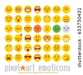 emoticon with various emotions... | Shutterstock .eps vector #653750431