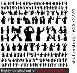 hundreds detailed people... | Shutterstock . vector #65375224
