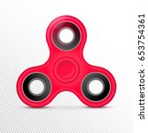 fidget finger toy. red color... | Shutterstock .eps vector #653754361