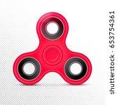 fidget finger toy. red color... | Shutterstock .eps vector #653754361
