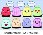 jelly emoticon | Shutterstock .eps vector #653759401