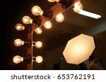 lighting mirror in dressing room | Shutterstock . vector #653762191