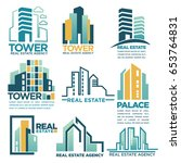 real estate agency or company... | Shutterstock .eps vector #653764831