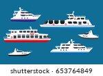 passenger sea cruise liner... | Shutterstock .eps vector #653764849