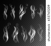 smoke realistic 3d vector icons ... | Shutterstock .eps vector #653765209