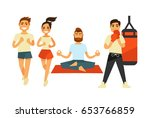 people fitness and sport... | Shutterstock .eps vector #653766859