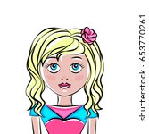 girl  vector illustration | Shutterstock .eps vector #653770261