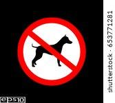 prohibition sign   icon. no dog ...