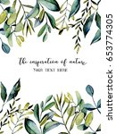 template postcard with... | Shutterstock . vector #653774305