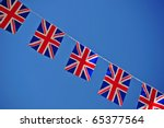 A Line Of Union Jack Flags ...