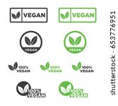 vegan icon set. | Shutterstock .eps vector #653776951