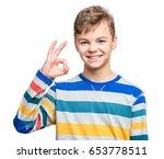 half length emotional portrait... | Shutterstock . vector #653778511