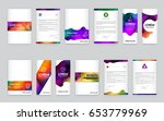 big set of visual identity with ... | Shutterstock .eps vector #653779969