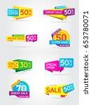 big set of sale sign banner... | Shutterstock .eps vector #653780071