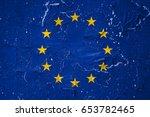 flag of europe | Shutterstock . vector #653782465