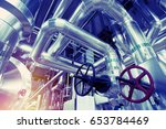 equipment  cables and piping as ... | Shutterstock . vector #653784469
