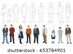 collection of people and...   Shutterstock . vector #653784901