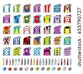 jockey uniform. traditional... | Shutterstock .eps vector #653790727