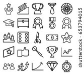 success icons set. set of 25... | Shutterstock .eps vector #653794015
