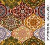 patchwork pattern. vintage...   Shutterstock .eps vector #653801584