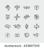 vector set energy symbols and... | Shutterstock .eps vector #653807545