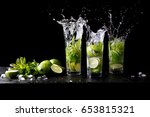 mojito summer beach refreshing... | Shutterstock . vector #653815321