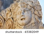 Mask in Myra Ruins,Turkey - stock photo