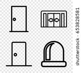 doorway icons set. set of 4... | Shutterstock .eps vector #653828581