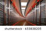 modern datacenter. cloud... | Shutterstock . vector #653838205