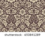 seamless floral pattern in the... | Shutterstock . vector #653841289