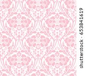 seamless floral pattern in the... | Shutterstock . vector #653841619