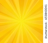 comics rays background with... | Shutterstock . vector #653843041