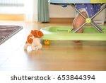 Stock photo baby to practice walking 653844394