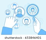 vector illustration in modern... | Shutterstock .eps vector #653846401