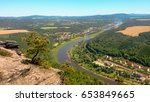 view from lilienstein on the... | Shutterstock . vector #653849665