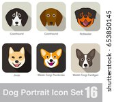 dog  animal face character icon ... | Shutterstock .eps vector #653850145