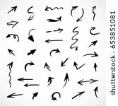 hand drawn arrows  vector set   Shutterstock .eps vector #653851081