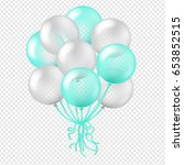 balloon in transparent... | Shutterstock .eps vector #653852515