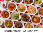 group picture of chinese cuisine | Shutterstock . vector #653854594