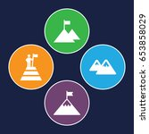 peak icons set. set of 4 peak... | Shutterstock .eps vector #653858029