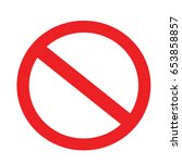 red not allowed sign in white... | Shutterstock .eps vector #653858857